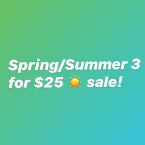 Any item with a ☀️ emoji is 3 for $25!